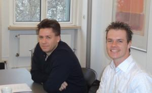 Stefan Mooser (li) und Martin Holzner (re) bei der Gründung der IF-Tech AG